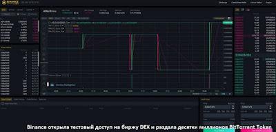 Binance открыла тестовый доступ на биржу DEX и раздала десятки миллионов BitTorrent Token