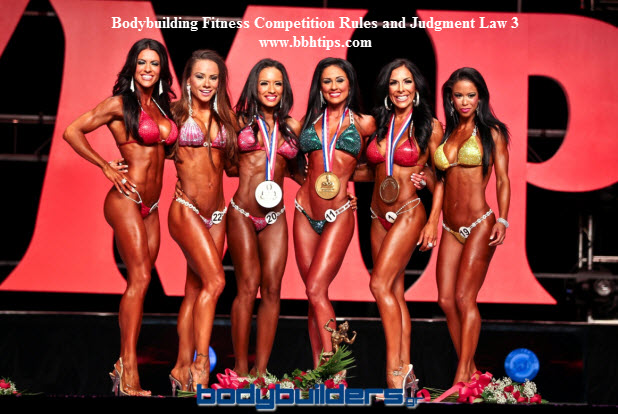 Bodybuilding Fitness Competition Rules Judgment Law 3