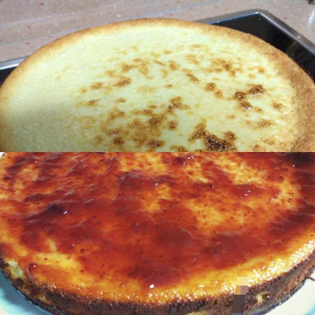tarta de queso al horno alocados en la cocina