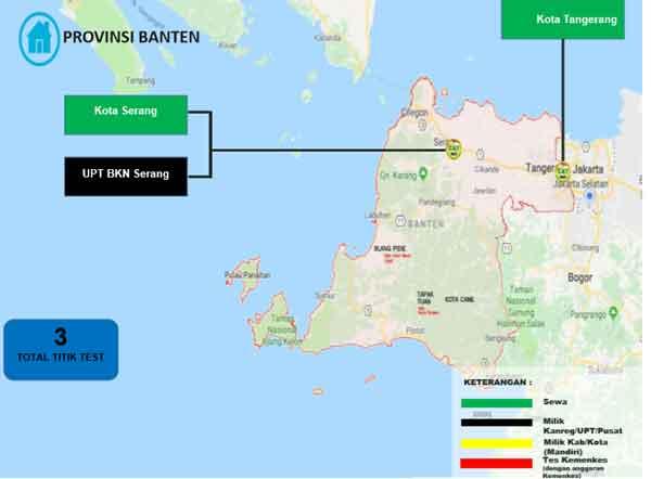Lokasi Tes Cat BKN Propinsi Banten