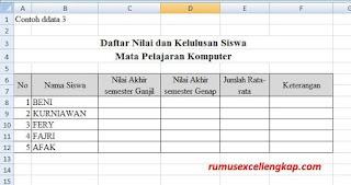 Cara 3 bekerja dengan multi sheet