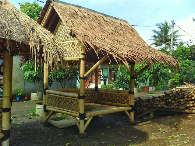 model gazebo bambu