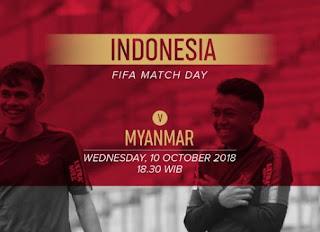 Jadwal Timnas Indonesia vs Arab Saudi & Myanmar - Rabu 10 Oktober 2018