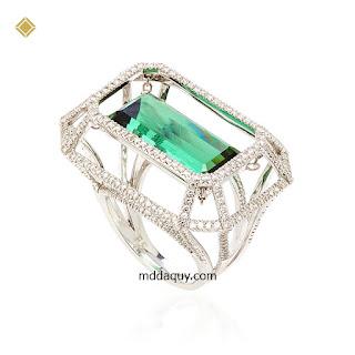 Nhẫn vàng đính đá quý ý tưởng tự do