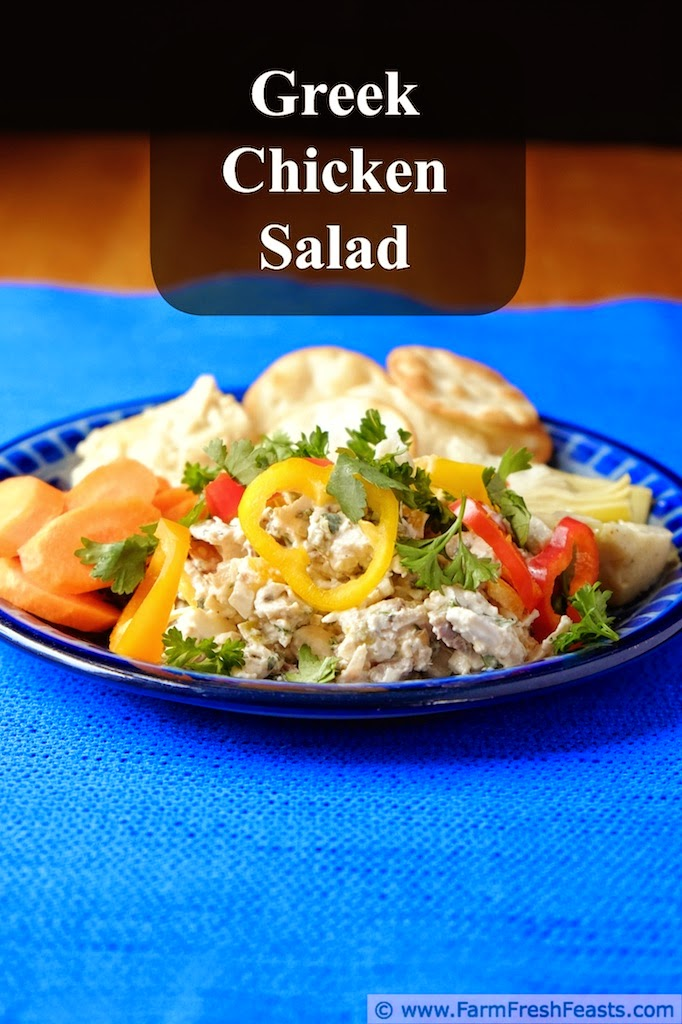 Colorful Greek Chicken Salad Plate | Farm Fresh Feasts