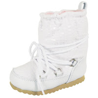 Baby Deer Walking White Crock Boots