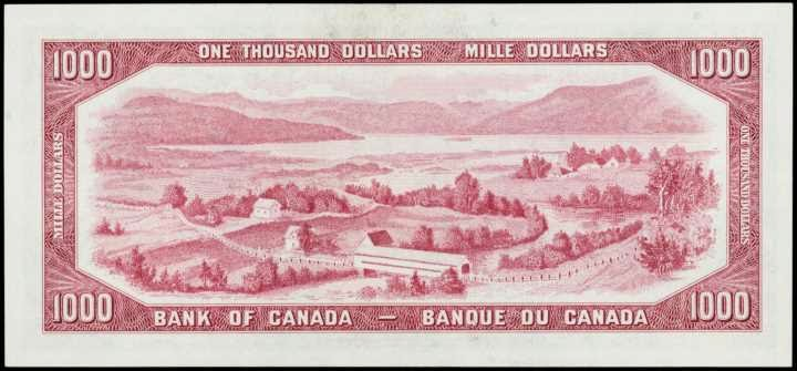 Bank of Canada 1954 One Thousand Dollar Bill