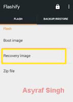 flashify - recovery image