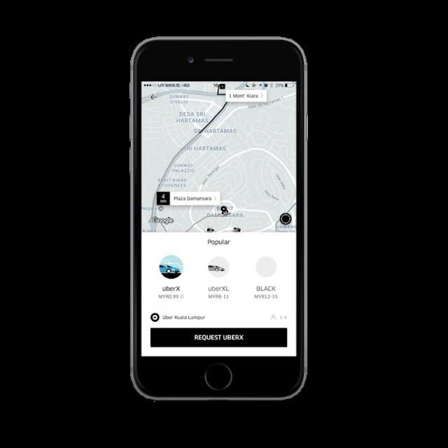 Uber Malaysia UberX Rides RM0.99 Promo