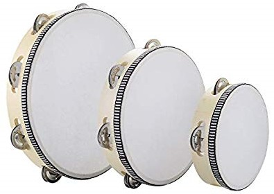 Musfunny Tambourines - Handheld Percussion Drums - Musical Instruments