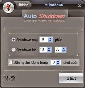 Hẹn giờ tắt máy tính trên windows (win 7, win 8) không dùng phần mềm