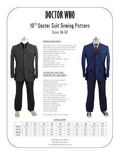 10th Doctor suit sewing pattern