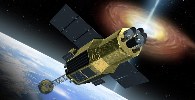 Artist's rendering of the ASTRO-H satellite. Credit: Akihiro Ikeshita