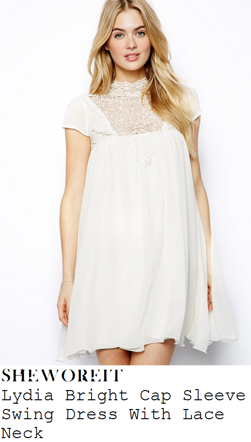lydia-bright-cream-white-high-neck-cap-sleeve-lace-panel-swing-dress-towie