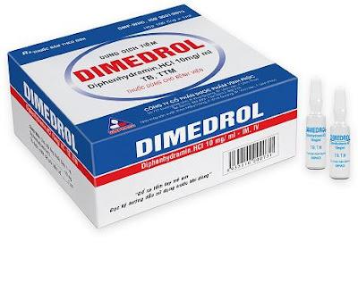 Dimedrol 10mg/ 1ml là biệt dược phổ biến nhất của Diphenhydramin tại Việt Nam