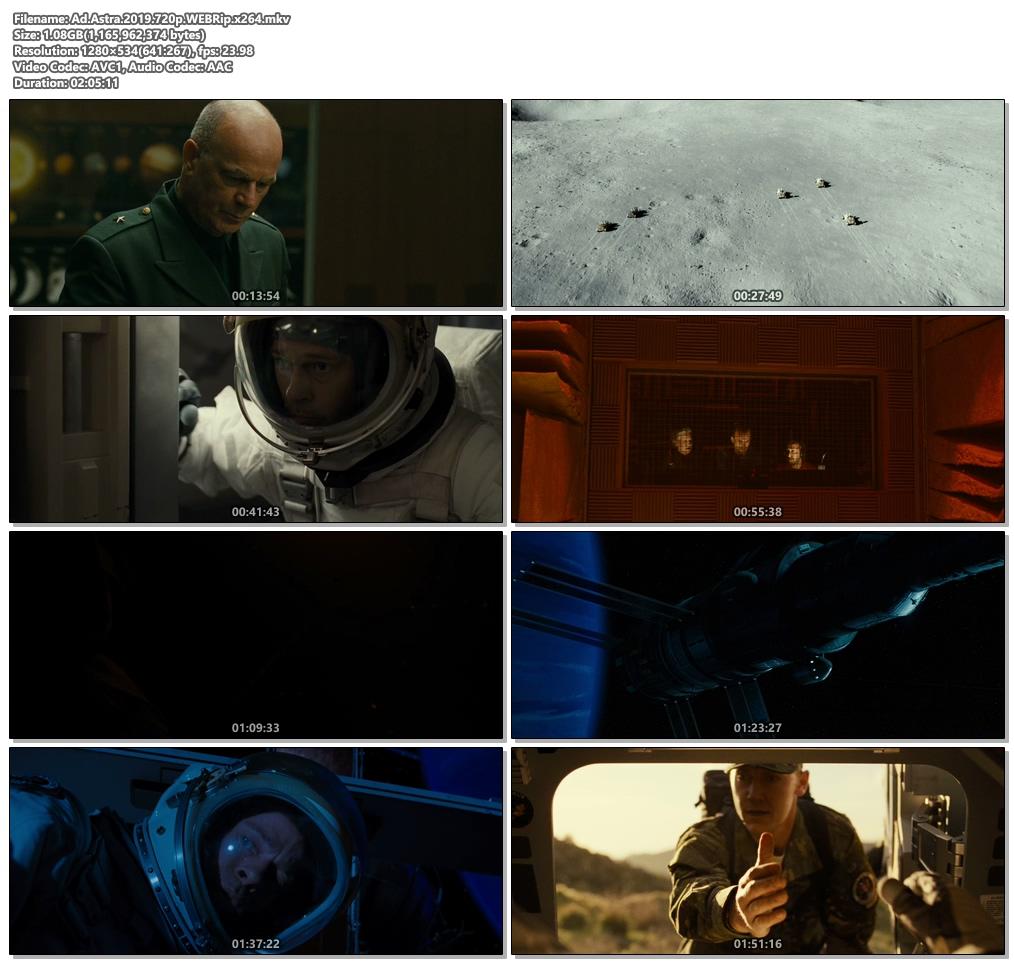 Ad Astra 2019 720p WEBRip x264 | 480p 300MB | 100MB HEVC Screenshot