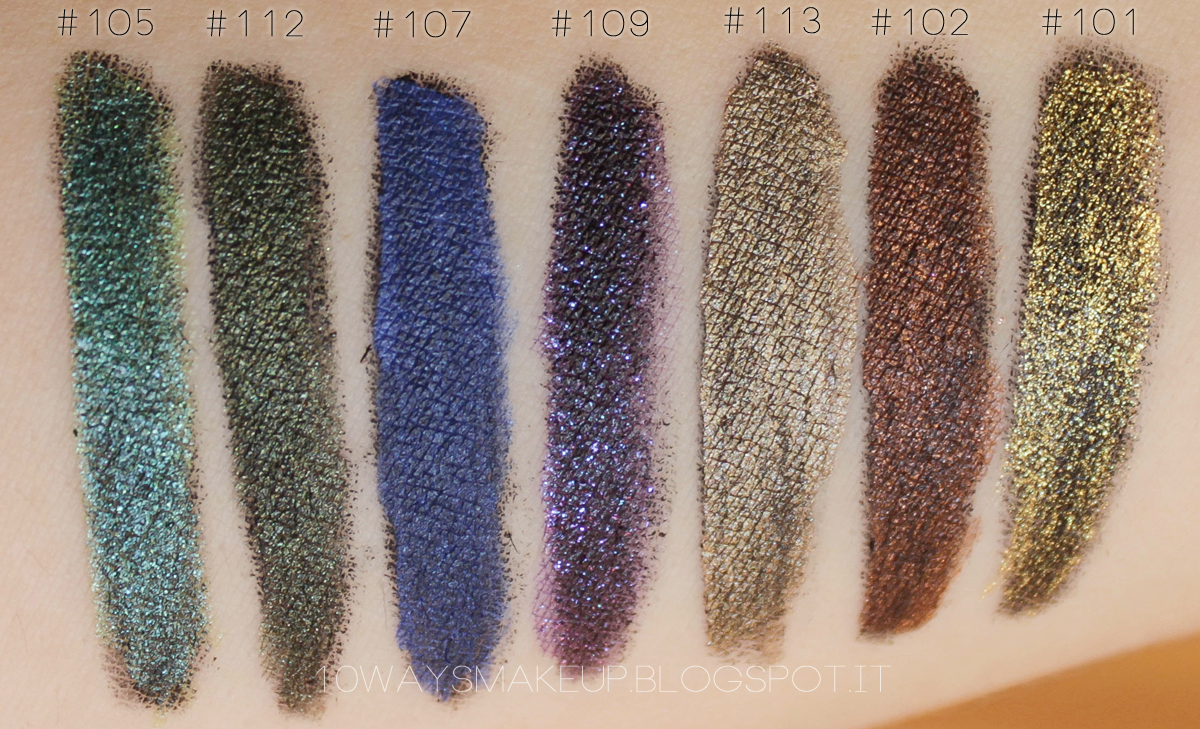 Kiko Super Colour Eyeliner swatch