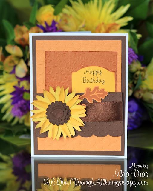 Autumn Sunflower Birthday Card | Mojo Monday Sketch Challenge