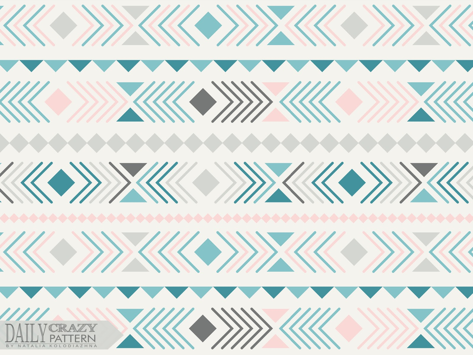 "Interesting aztec art print, geometric pattern for ""Daily Crazy Pattern"" project"