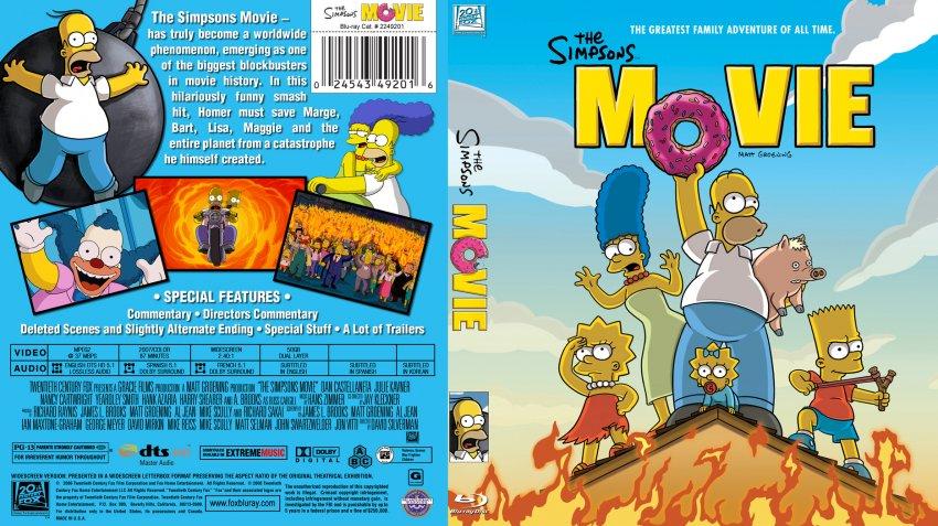 Blu-ray The Simpsons Movie 2007 animatedfilmreviews.filminspector.com
