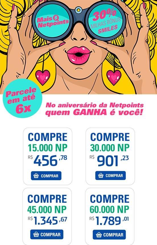 68fdf725c  ATUALIZADO  Início da transferência promocional Netpoints para Smiles com  bônus.