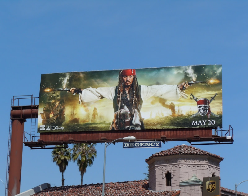 Pirates 4 Johnny Depp movie billboard