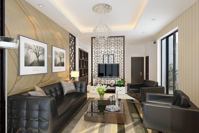 phòng khách căn hộ Green Pearl Minh Khai
