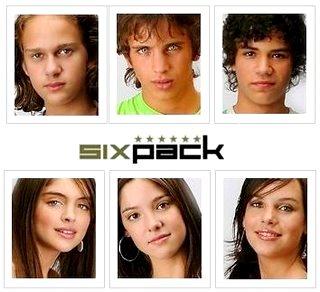 Foto de rostros de integrantes de Six Pack