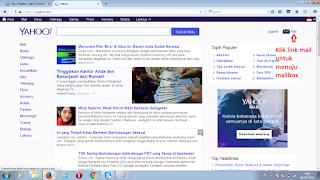 Halaman utama akun yahoo