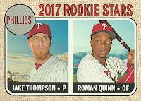 2017 Topps Heritage #275 Jake Thompson & Roman Quinn