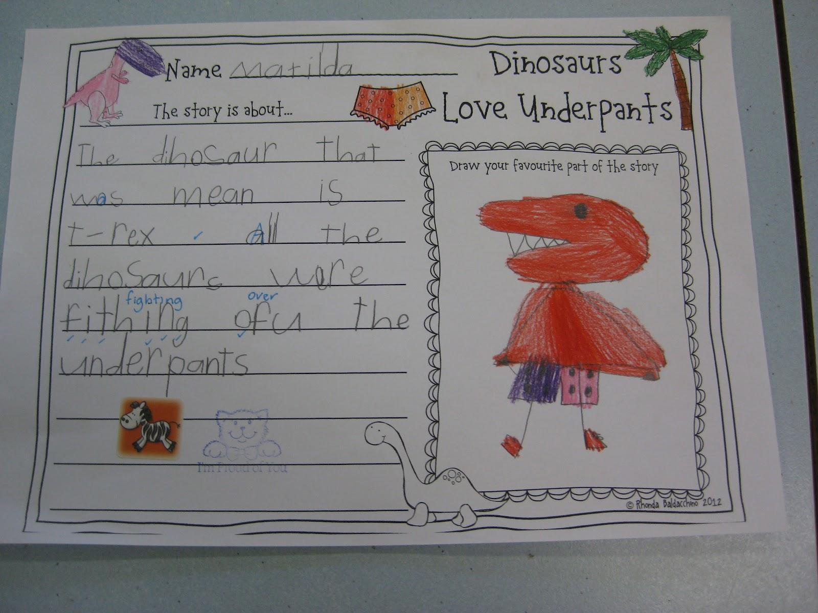 Classroom Fun Dinosaurs Love Underpants