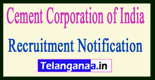 Cement Corporation of India CCI Recruitment Notification