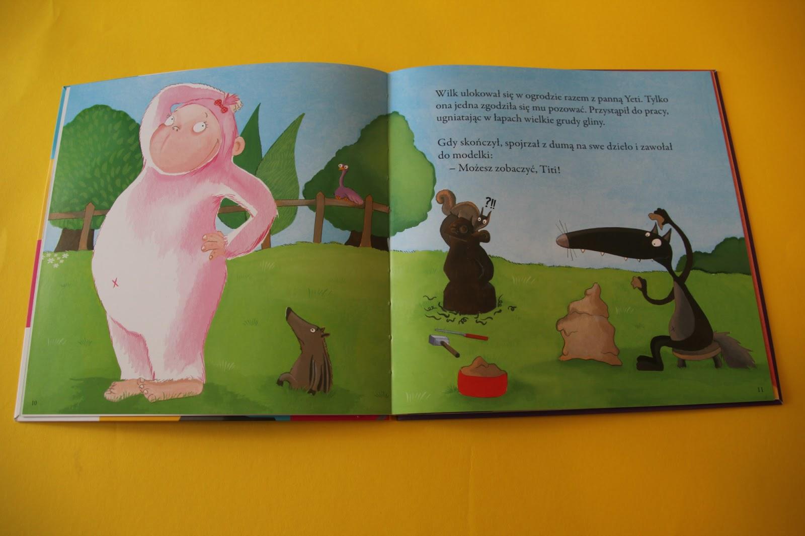 """książka dla dzieci w wieku przedszkolnym """"O Wilku, który został gwiazdą rocka"""" Orianne Lallemand"""