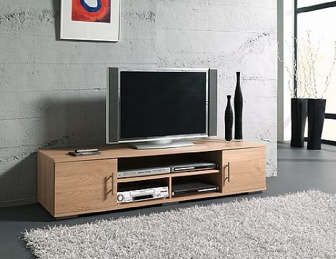 Tv meubel licht eiken tvmeubel hallund deurs schap eiken with tv