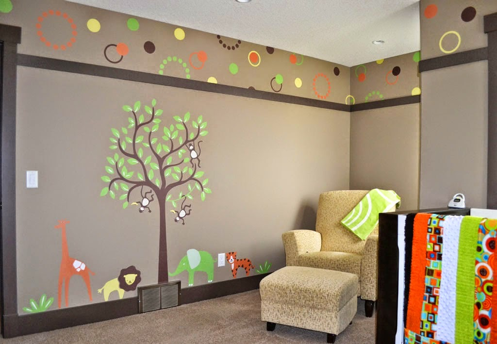 Nursery Design with Wall stickers