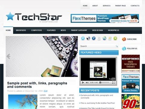 TechStar Free WordPress Theme