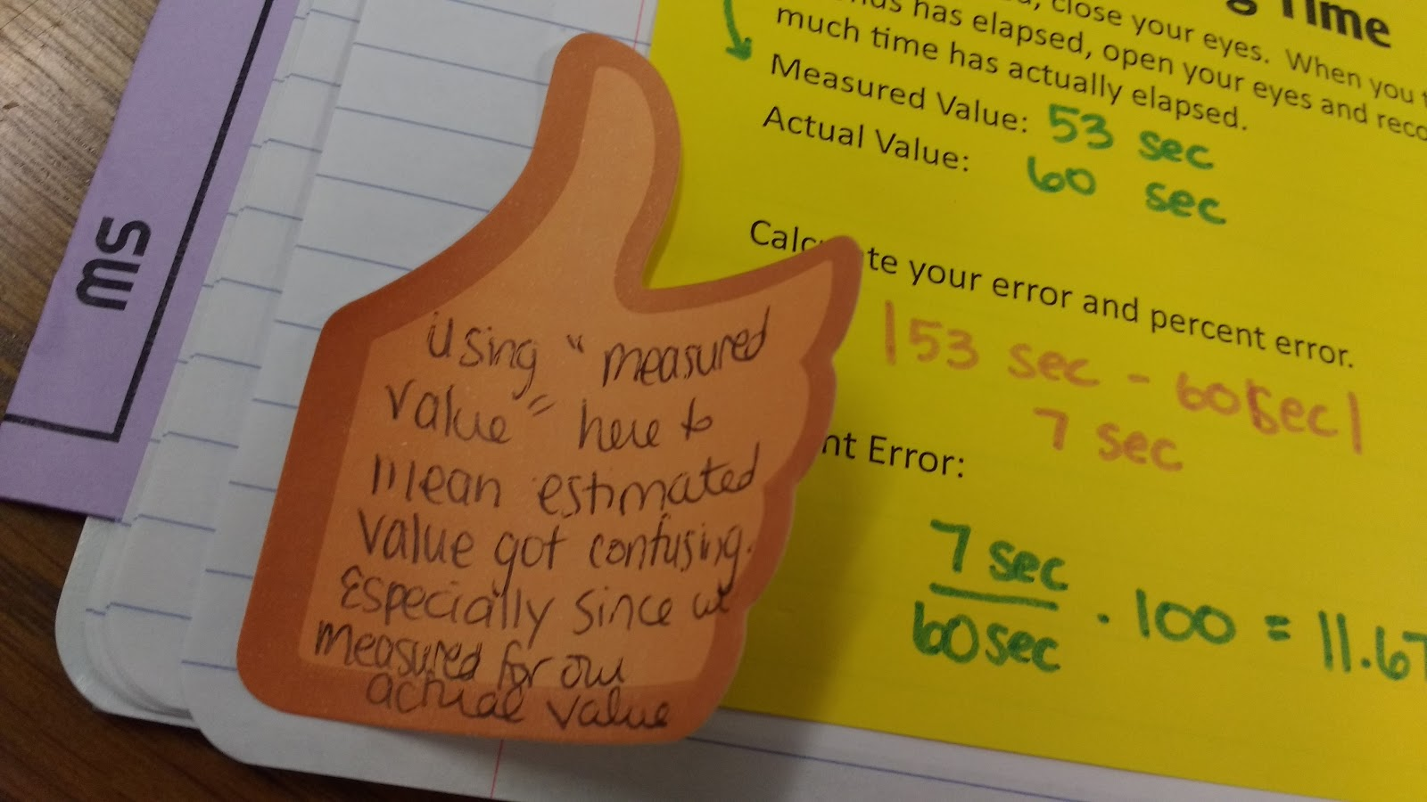Math Love Mini Labs For Calculating Error And Percent Error