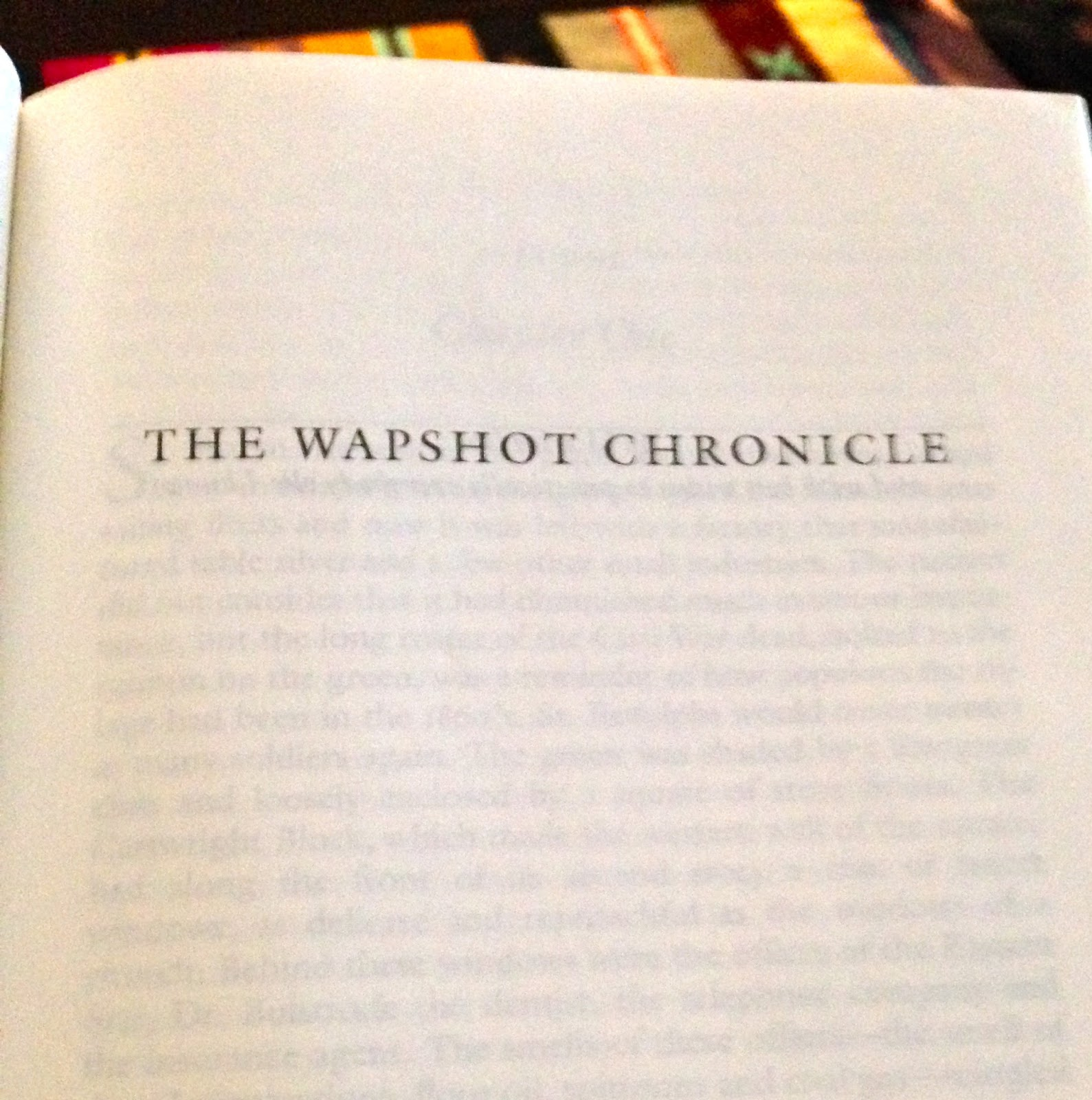 an analysis of the wapshot chronicle by john cheever The wapshot chronicle kirkus reviews issue: june 15th, 1957 more fiction & literature more by john cheever fiction john cheever by john cheever.