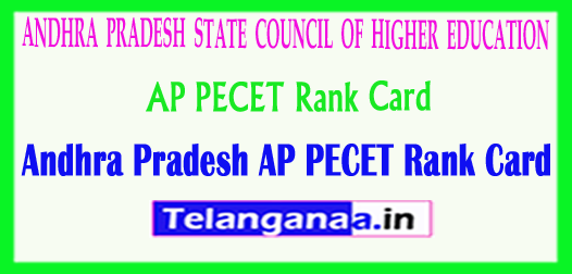 Andhra Pradesh AP PECET APPECET 2018 Rank Card Download