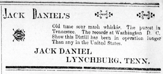 Jack Daniel's advertising 1895
