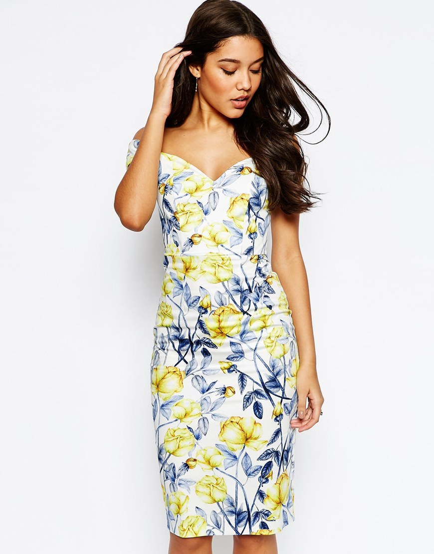 http://www.asos.com/ASOS/ASOS-Bardot-Off-The-Shoulder-Hitchcock-Midi-Pencil-Dress-In-Yellow-And-Blue-Floral/Prod/pgeproduct.aspx?iid=6255833&WT.ac=rec_viewed&CTAref=Recently+Viewed
