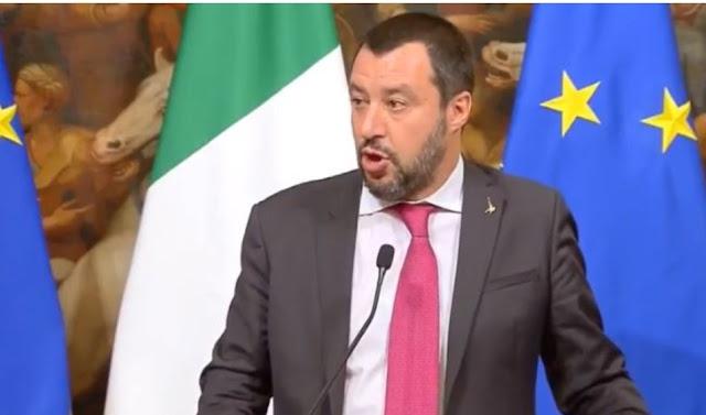 """بالفيديو: سالفيني وزير الداخلية الإيطالية: مشكل الأمن بإيطاليا هو """"التطرف والإرهاب الإسلامي"""""""