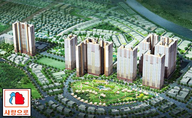 Phối cảnh tổng thể toàn khu dự án Booyoung Vina