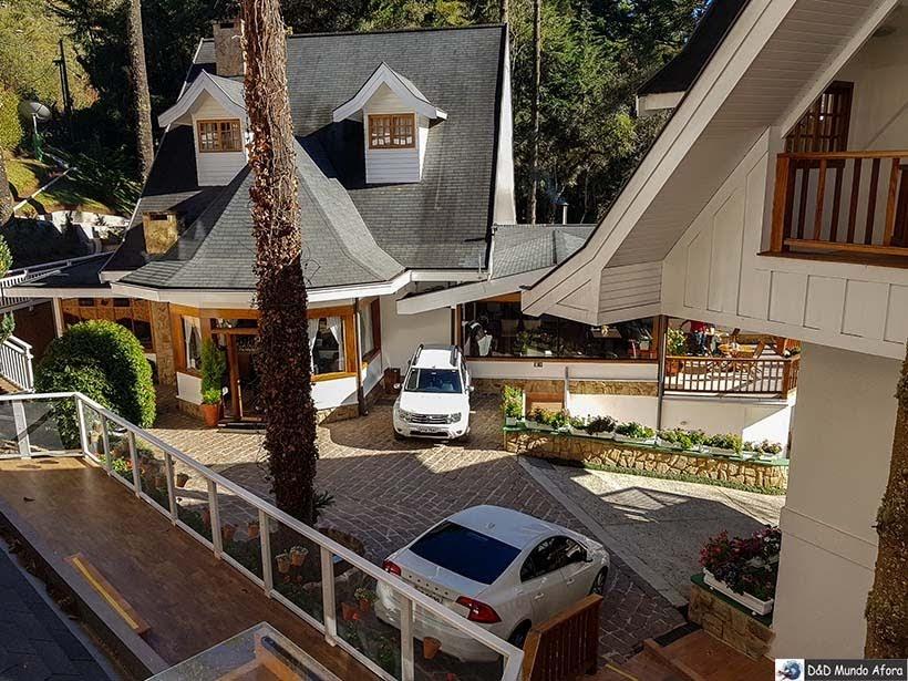 Vista do flat na Pousada Campos dos Holandeses - Onde ficar em Campos do Jordão