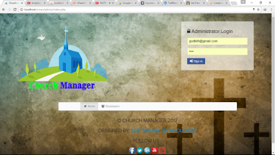 Church Management system (PHP)