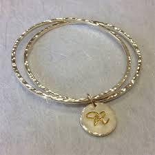 monogrammed bracelet handcrafted