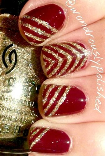 11 nail art design ideas for your wedding bling sparkle then you sure will like all things pretty and this nail art is all that and more some glitter some bling some bands and loads of pink you prinsesfo Image collections