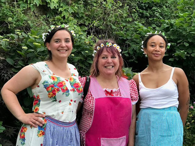 Left to Right: Chef Linn Soderstrom, msmarmitelover, chef Marian Ringborg of Spring restaurant: 3rd annual Swedish midsummer supper club with msmarmitelover and Linn Soderstrom in London