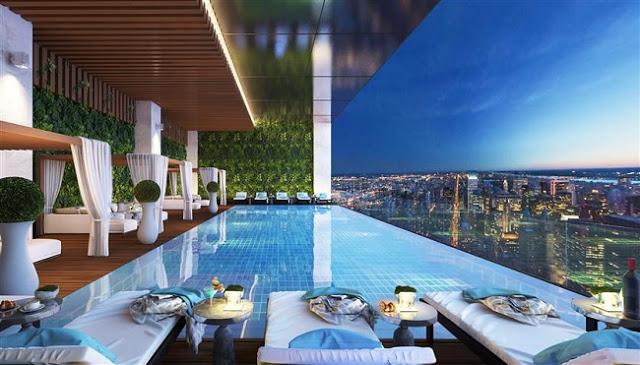 Bể bơi tại chung cư Hà Nội Aqua Central 44 Yên Phụ