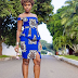 Kitenge Miniskirt with Open Shoulder Top - Best Design